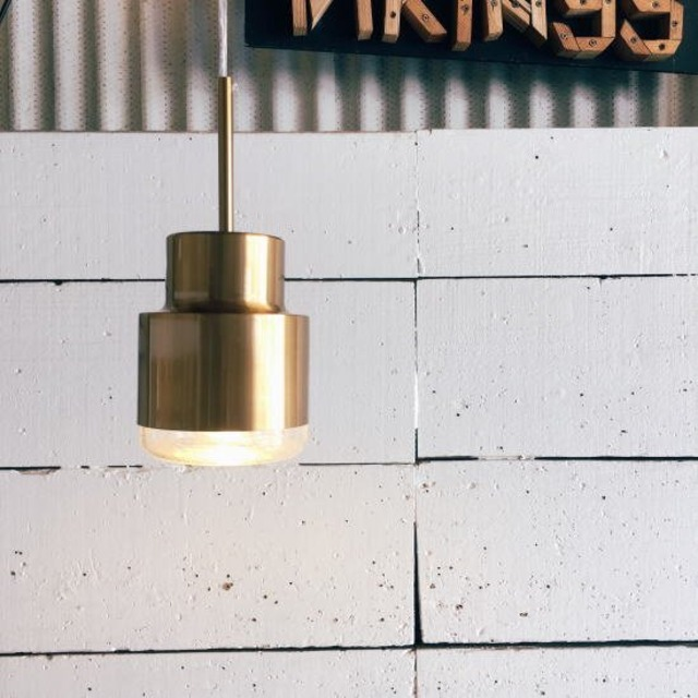 TOPANGA Lighting ゴールドガラスペンダントランプ