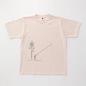 鉄道Tシャツ 踏切 ( Baby Pink × Dark Gray )