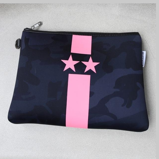 NEON Color pink clutch