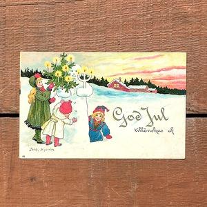 クリスマスカード「Jenny Nyström(イェニー・ニィストルム)」《201206-04》