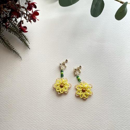 タティングレース yellow flower