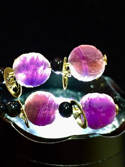 10) 紫ゴビアゲート「卑弥呼」ピアスA
