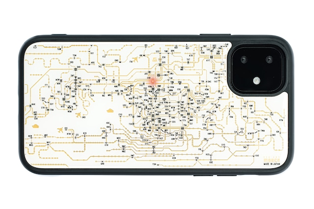 FLASH 関西回路線図 iPhone 11 ケース  白【東京回路線図A5クリアファイルをプレゼント】