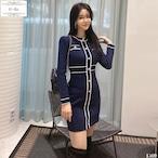 No.1569 韓国ワンピース きれいめワンピース 大人可愛いワンピース タイトワンピース ミニワンピース