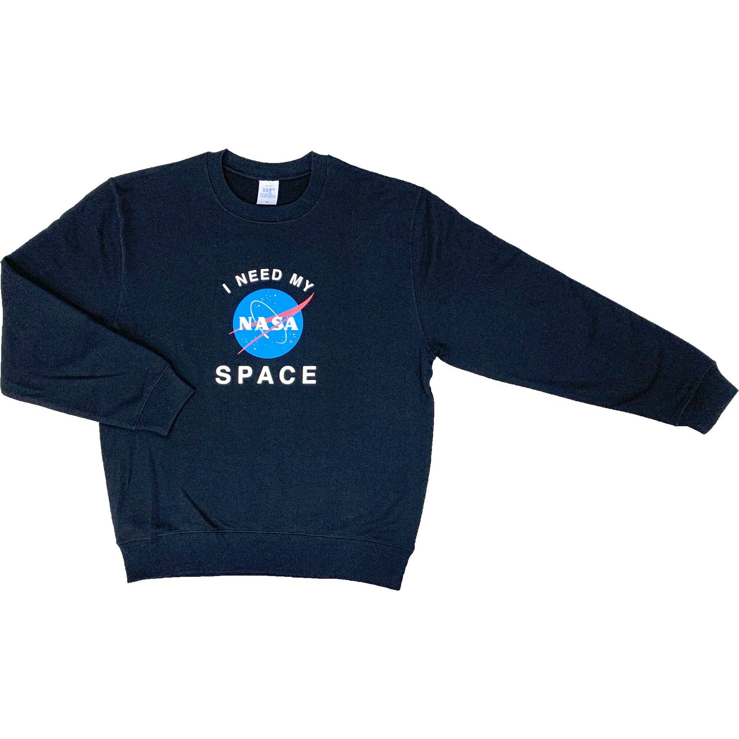 NASA公認(アメリカ航空宇宙局)・トレーナー・JERZEES(ジャージーズ)ボディ・インサイニア(ミートボール)・ブラック
