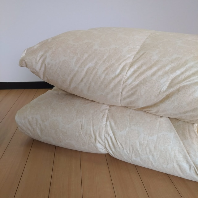 SD-羽毛掛ふとん 【マース】 セミダブル ハンガリーホワイトグースダウン−CONキルト (80サテン/1.5kg)