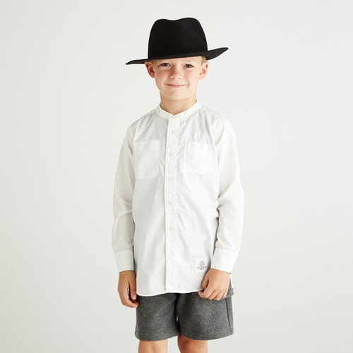 SMOOTHY スタンドカラーロングシャツ