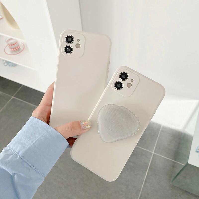 貝殻グリップライトカラー iPhone case
