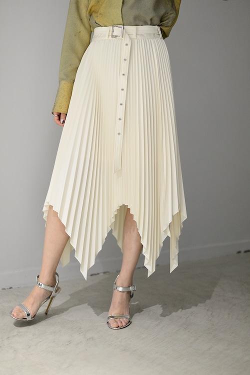 SATORU SASAKI / Random hem pleats skirt