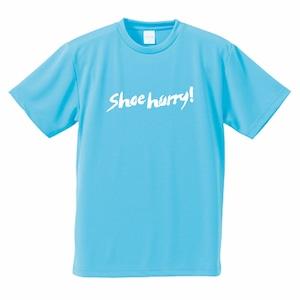【限定】SHOEHURRY! DRY T-SHIRTS|ドライTシャツ(ライトブルー/ホワイト)