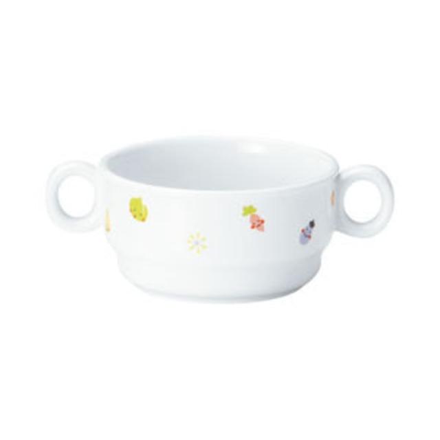強化磁器 9.7cm 両手つきカップ ぷちやさい【1910-1230】