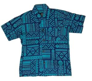 Aloha Shirt Blue【Kids】