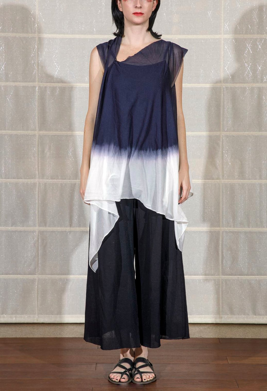 [着るストール]RESORT DRESS/STOLE moon NAVY 204301[SILK][税/送料込み]
