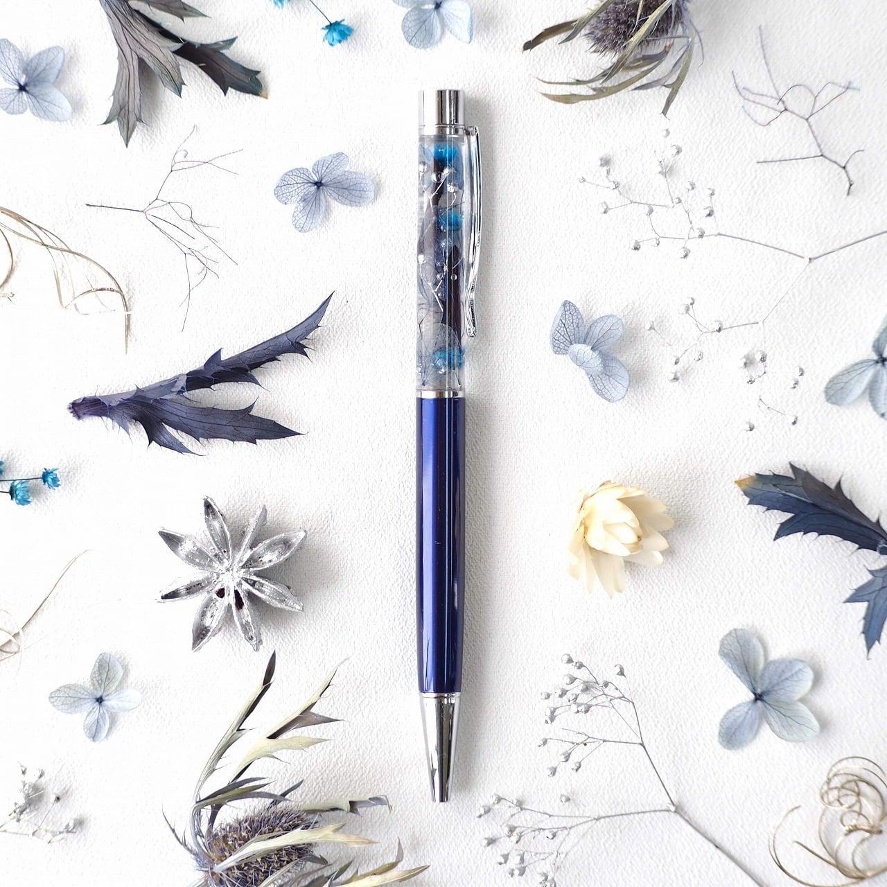 ハーバリウムボールペン『瑠璃』