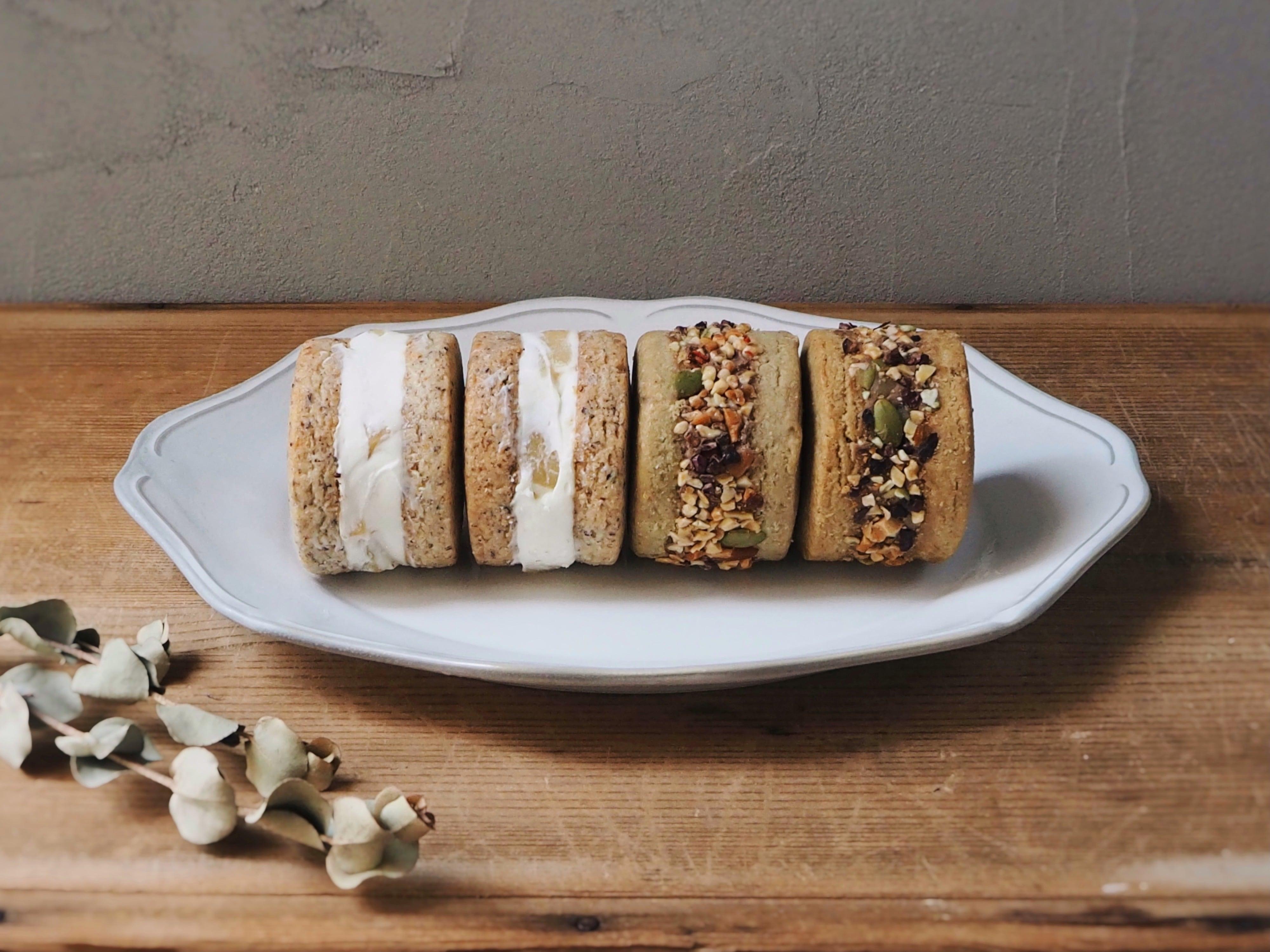 『ラ・フランスクッキーサンドとチョコマロンクッキーサンド』2種類set