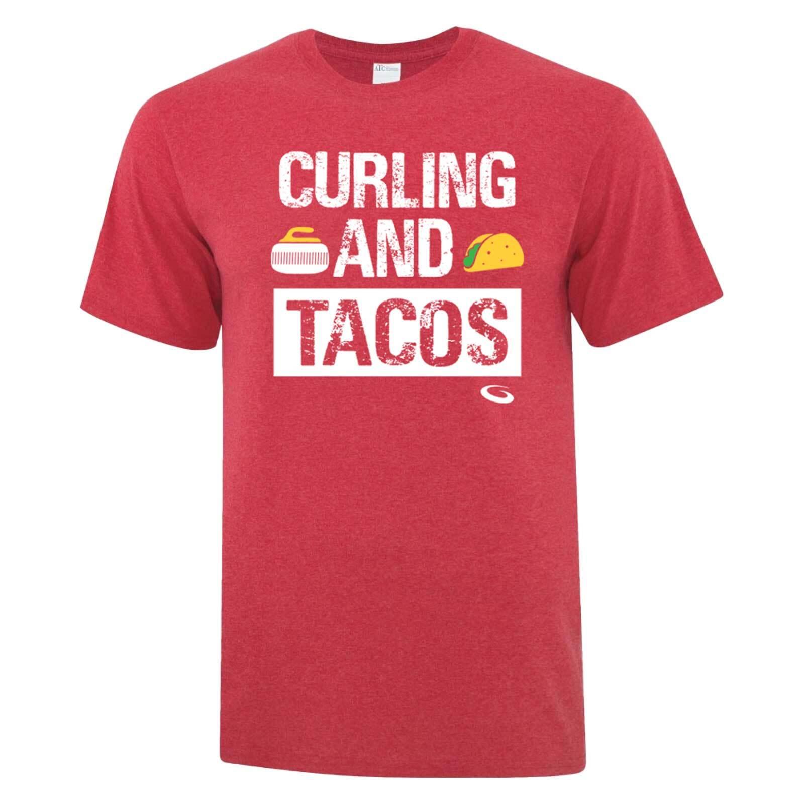 カーリング アンド タコス T-Shirt (赤)
