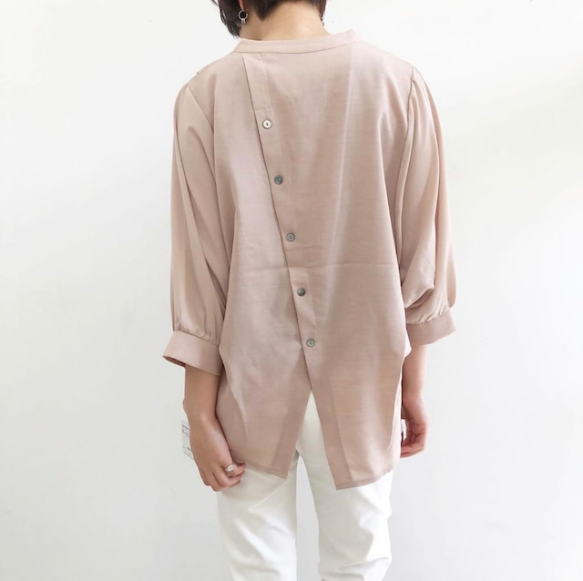 【 ROSIEE 】- R210212 - 後ろ釦スキッパーシャツ