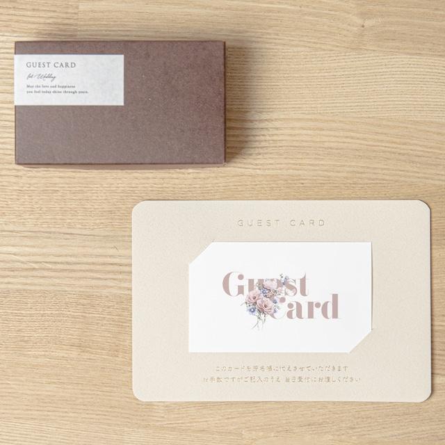 【ゲストカード│名入れなし】FLOWER COLLAGE PINK(フラワーコラージュ ピンク)│30枚セット