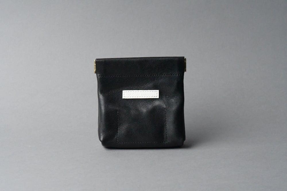 ワンタッチ・コインケース ■ブラック・リザードW■ - 画像2