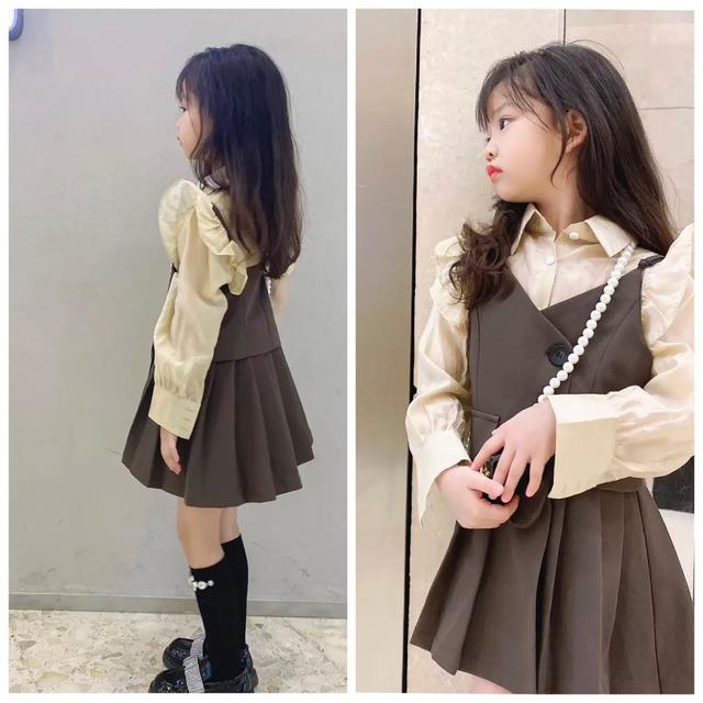 110~160cm ★ ワンピース 秋カラー こっくりカラー プリーツスカート