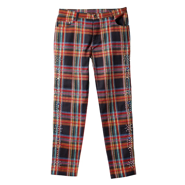 ROGIC Check Studs Pants Red