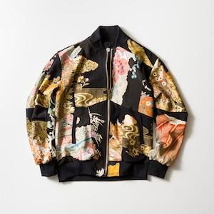 再構築 着物 黒留袖 ボンバージャケット KIMONO BOMBER JACKET kimonobomberjk01