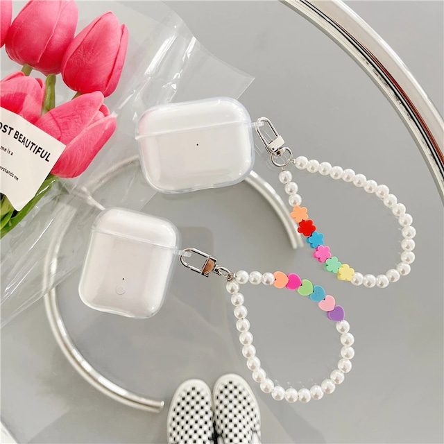 Korean flowers and hearts airpods case