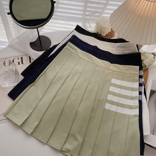 5色/サイドラインプリーツスカート ・18951