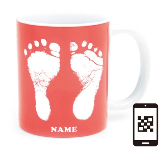 ai mug   A-type (PINK) QRコード付き