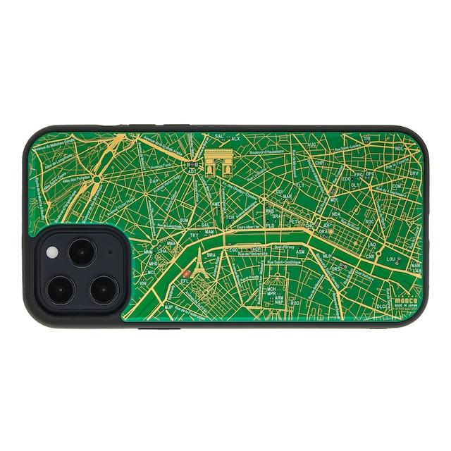 FLASH Paris回路地図 iPhone 12 Pro Maxケース  緑【東京回路線図A5クリアファイルをプレゼント】