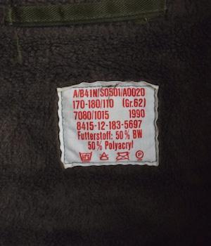 VINTAGE 90s GERMAN ARMY COAT