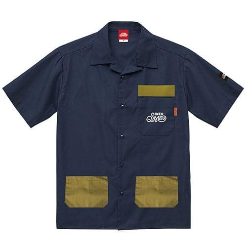 オープンカラーシャツ 半袖 / アウトドアネイビー   SINE METU - シネメトゥ