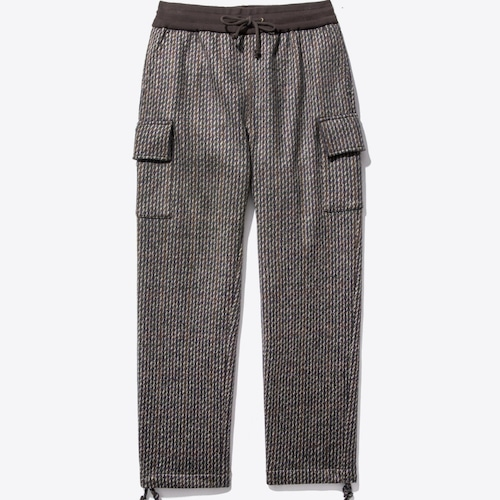 Wool Knit Cargo Pant(Brown Tartan)