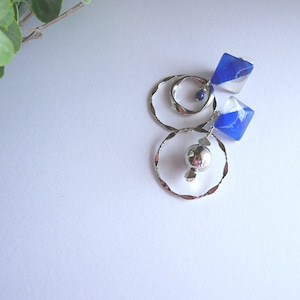 """"""" Earrings NO.0-1914″ シャープなブルー"""