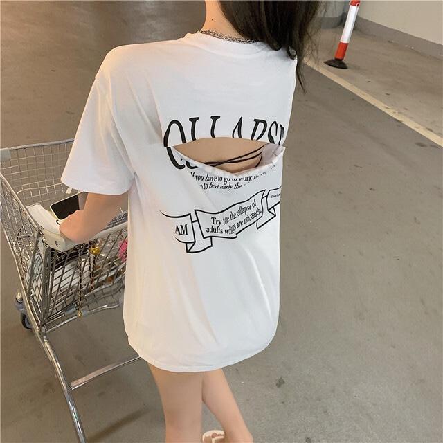 【トップス】カジュアル半袖ラウンドネックプルオーバーダメージ加工Tシャツ46551448