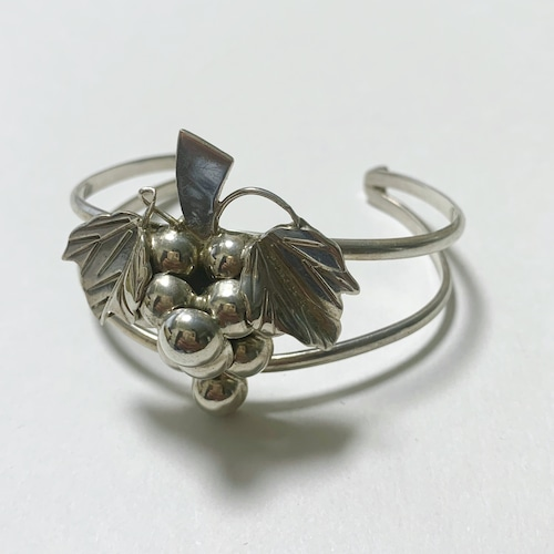 Vintage Sterling Grape Bangle Made In Mexico