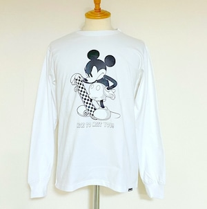 Schott/Disney L/S Tee Skater White