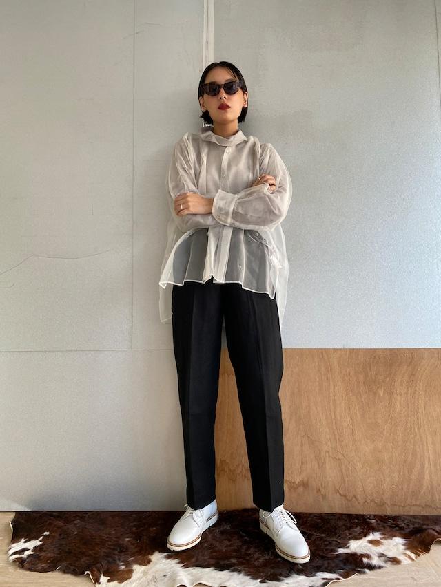 "High waist trousers ""black"" khadi wool"