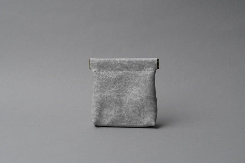 ワンタッチ・コインケース ■ライトグレー・ホワイト■ - 画像2