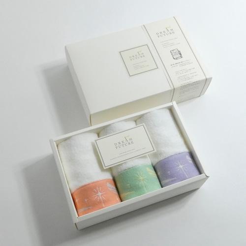無撚糸(むねんし)高級Hand Towel 3枚SET ORANGE / GREEN / PURPLE