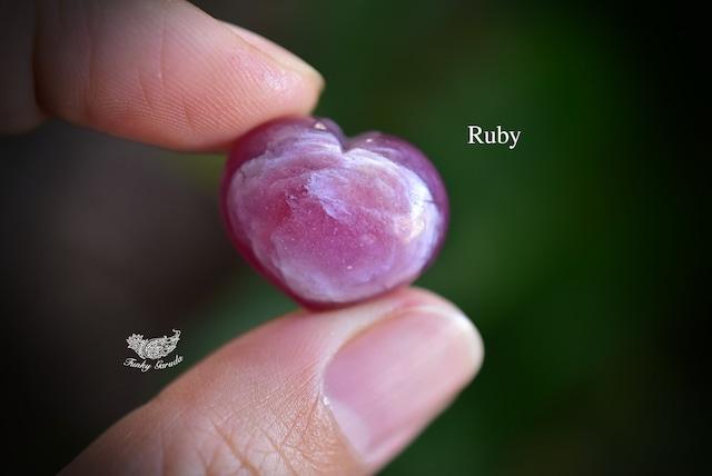 濃淡ピンク★丸ハート型★ルビー ルース rub019