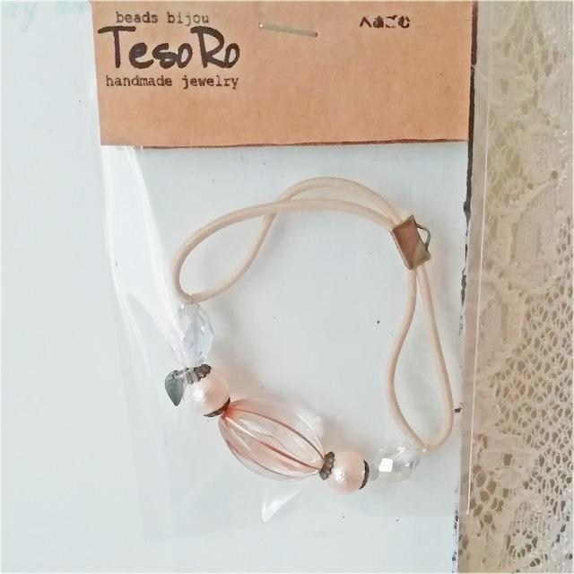 TesoRo:ヘアゴム  葉(小さなチャーム) 手首に付けても可愛い♪