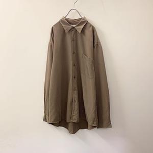 MONTE CARLO レーヨンシャツ ブラウン size L メンズ 古着