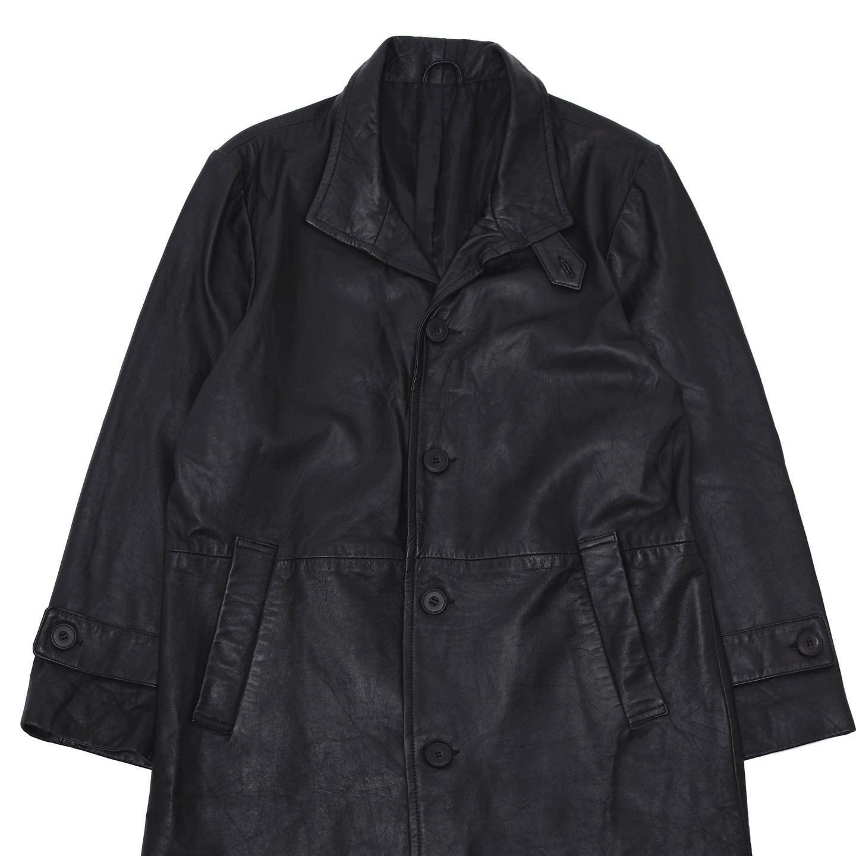 Vintage black Lamb leather overcoat