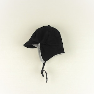 【20AW】POPELIN ポぺリン reversible hat with earflaps [12-24m/2-4y/4-6y]リバーシブル 帽子