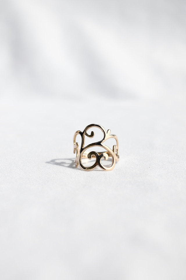 K10 Arabesque Design Ring 10金アラベスクデザインリング