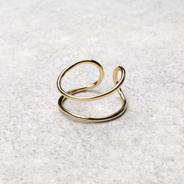 S925 DOUBLE LAYERED RING GOLD