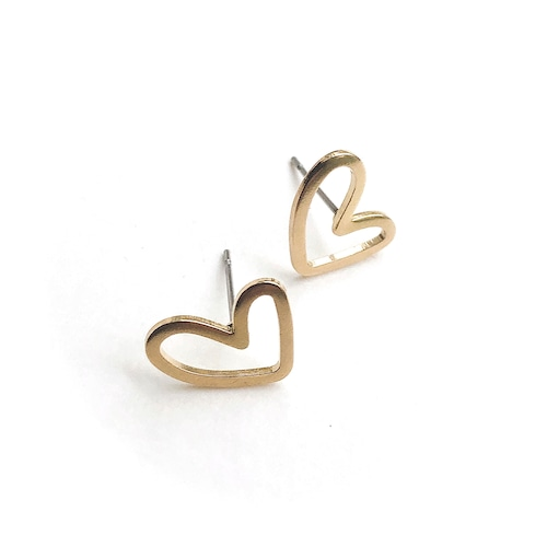 Heart flame mini earrings B-061