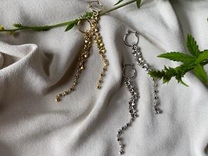 heart chandelier long pierce/earrings
