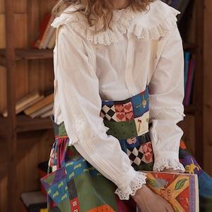 〔Designer+ 〕lace white blouse